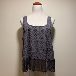 💛 Hollister light weight crop top with fringe